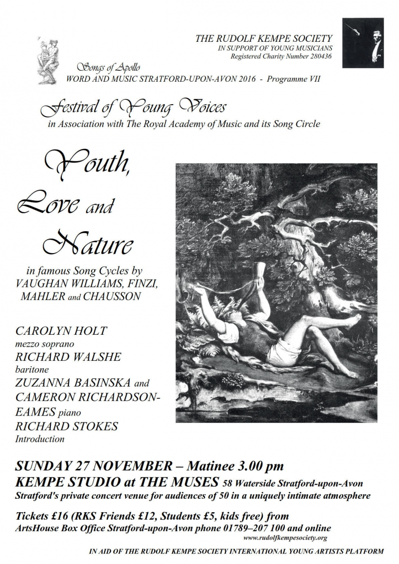Youth, Love and Nature - Sunday 27 November