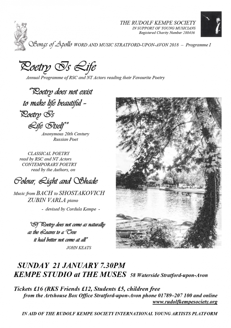 Poetry is Life - Sunday January 21st 2017