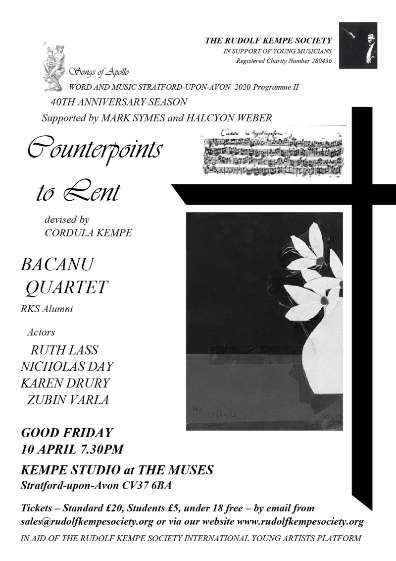Counterpoints to Lent - Friday 10th April 2020