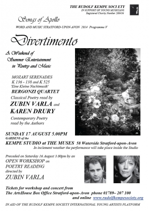 Divertmento - Sunday 17th August 2014