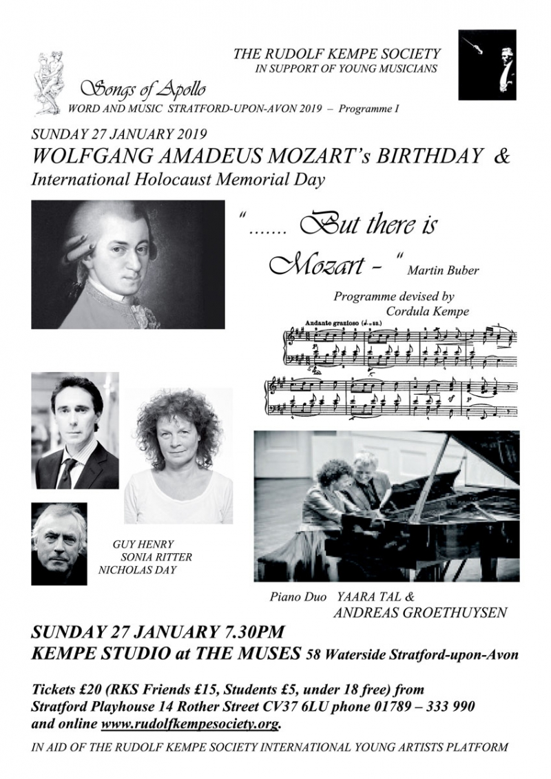 But there is Mozart - Sunday 27th January 2019