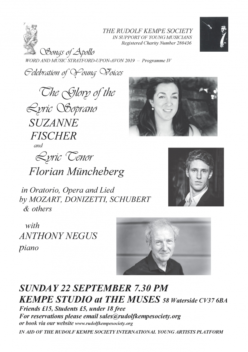 The Glory of the Lyric Soprano - Sunday 22nd September 2019