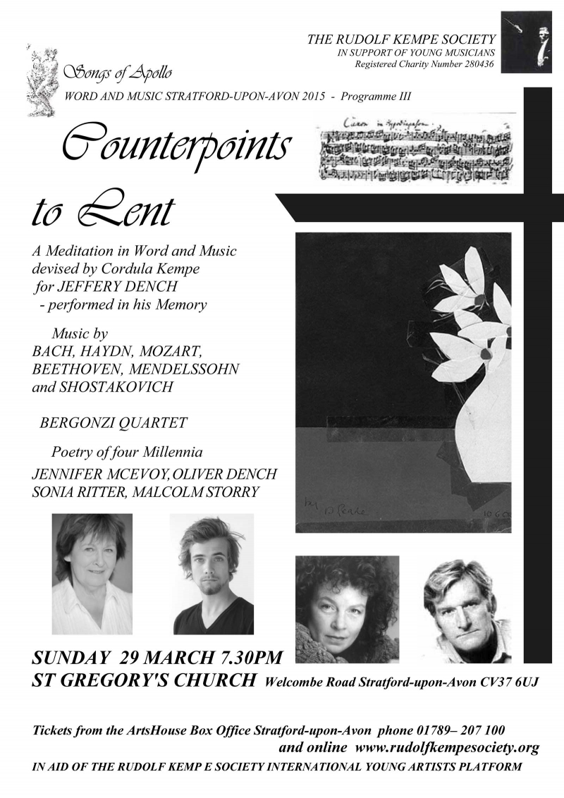 Counterpoints to Lent - Sunday 29th March 2015
